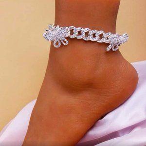 Bracelet for Women Iced Out Bling Butterfly